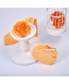 Marturie cutiuta portocaliu piersica -Borsa Rotonda