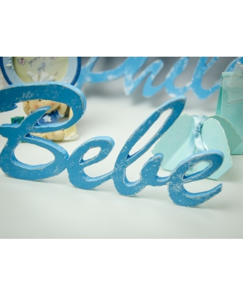 Cuvinte decupate -Bebe albastru