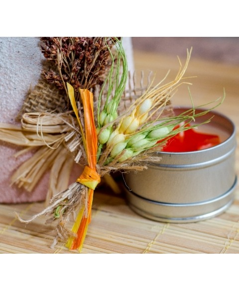 Flori piept -Spice grau