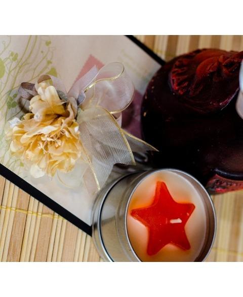 Flori piept -Dalie beige