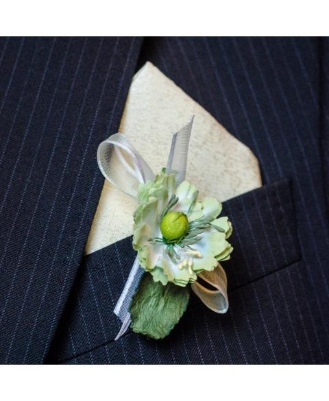 Flori piept -Carligel mac verde