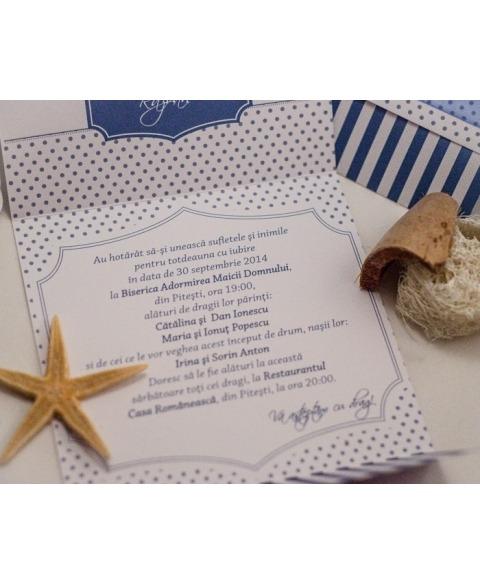Invitatie unicat tema marina