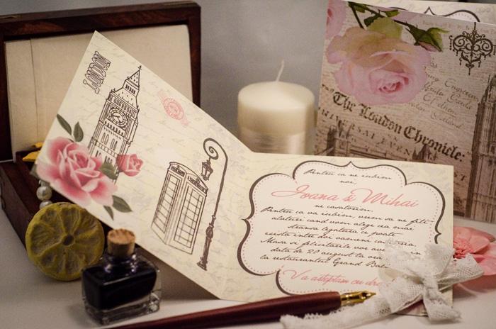 Decomag Invitatie Vintage Tema Londra