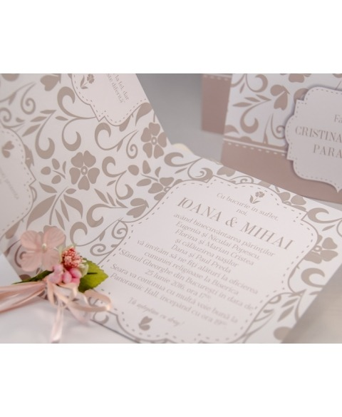 Invitatie Amore -Olive Grey
