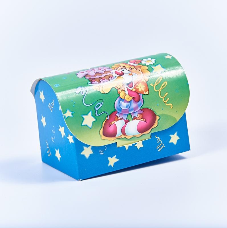 Marturie cutiuta cu arlechin verde-albastru
