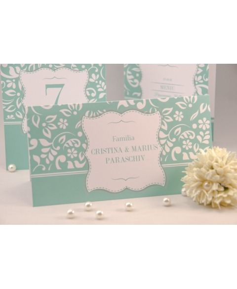 Card masa tip plic dar Amore -Menta