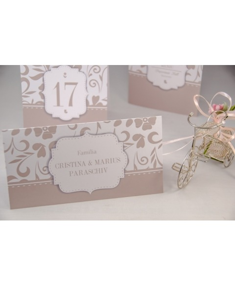 Card masa tip plic dar Amore -Olive Grey