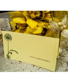 Card masa tip plic dar decor rustic
